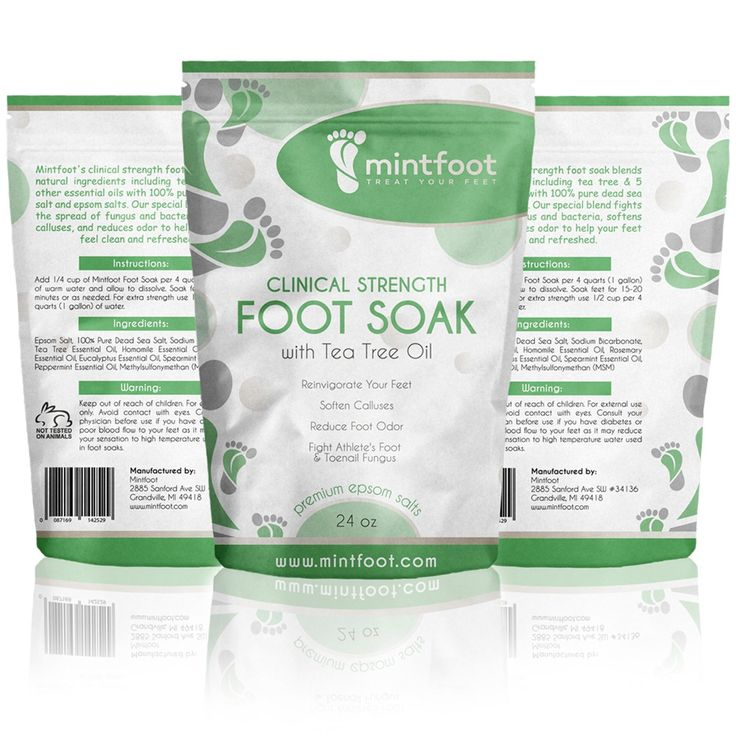 Mintfoot 24oz Clinical Strength Foot Soak with Tea Tree Oil and Epsom Salts - Fights Athlete's Foot and Toenail Fungus - Reinvigorate Your Feet -- You can get additional details at the image link. (Note:Amazon affiliate link)