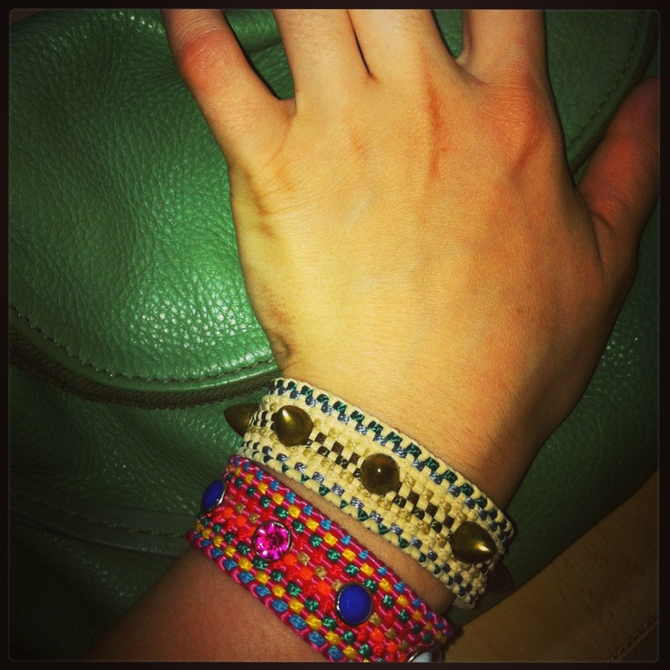 new cords just arrived and we created bracelets!!!