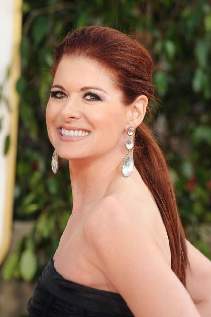 debra messing hair | Golden Globes 2013-Debra Messing Hair And Makeup - ELLE