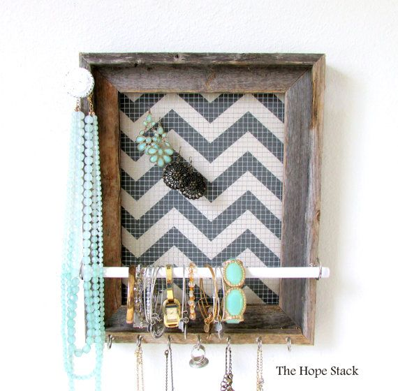Jewelry Organizer Jewelry Holder Pick Your Chevron by TheHopeStack