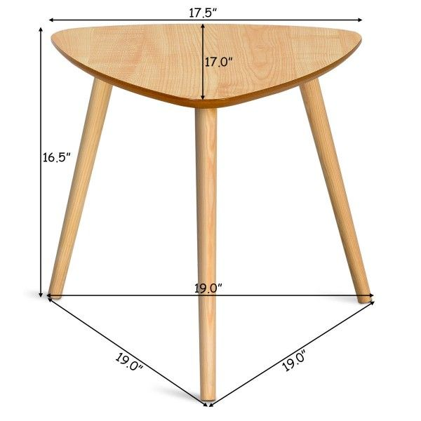 Living Room Triangle Top Side End Accent Coffee Table Coffee