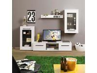 Hochglanz Wohnwand 4 teilig weiß - Neu und Originalverpackt