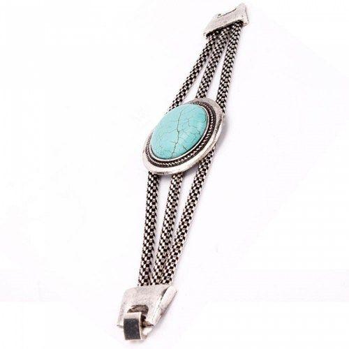 Women Round Turquoise Alloy Bracelet | favwish - Jewelry on ArtFire