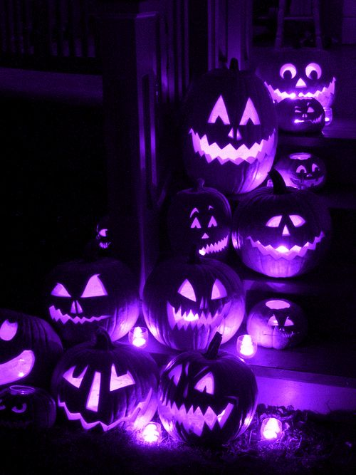 purple pumpkin lights lights animated candle gif pumpkin halloween halloween pics - Halloween Stuff