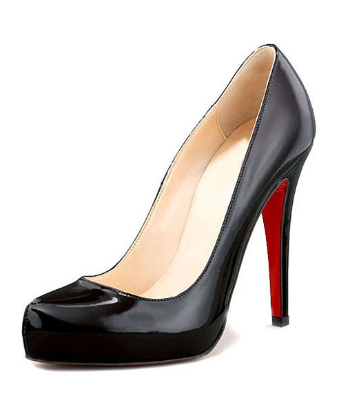 Patent Black Heeled Shoes-classic shoe for the office.