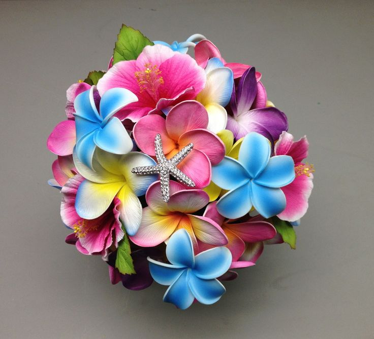 Hibiscus/Plumeria Wedding Bouquet
