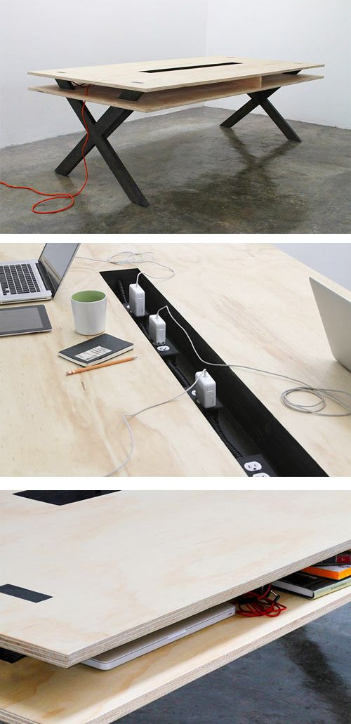 Work Table 002 by Miguel de la Garza    Read more at Design Milk: http://design-milk.com/perfect-for-coworking-work-table-002-by-miguel-de-la-garza/#ixzz2LEvcVttM