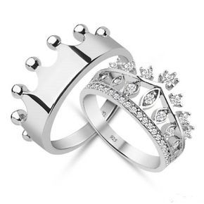 prince and princess crown promise ring set