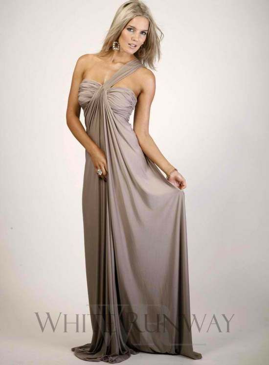 Savina Full Length One Shoulder Bridesmaid Dress