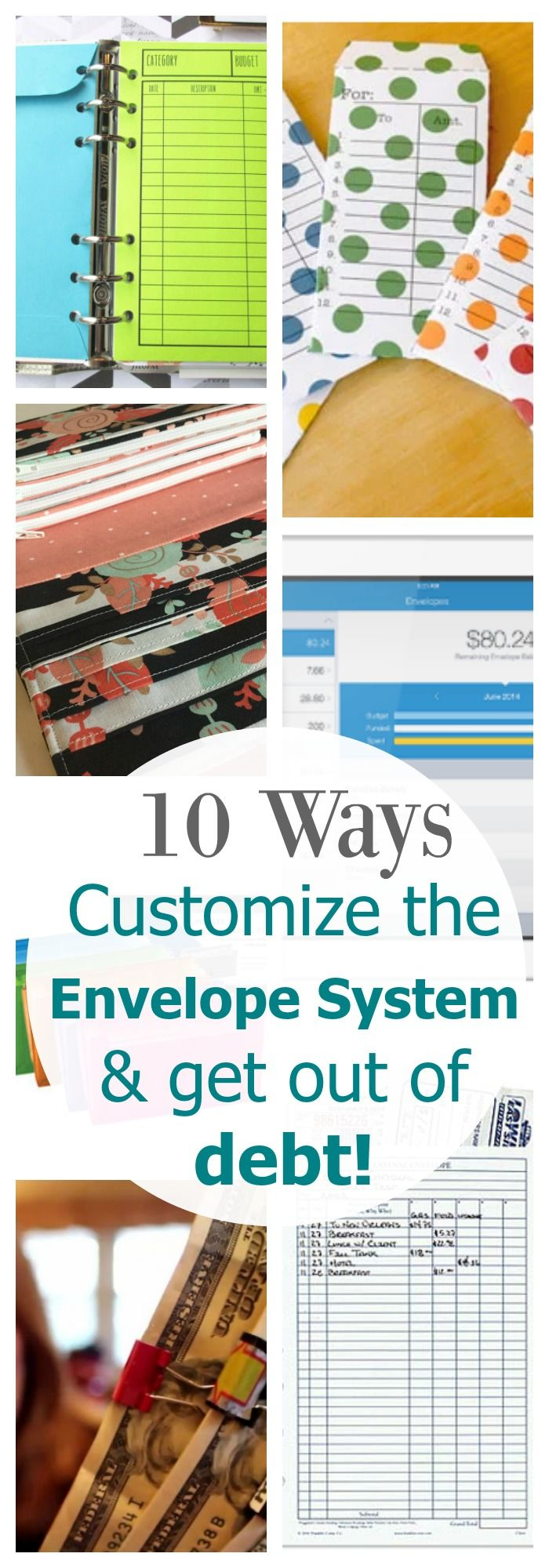 10 Ways to customize the envelope system and get out of debt