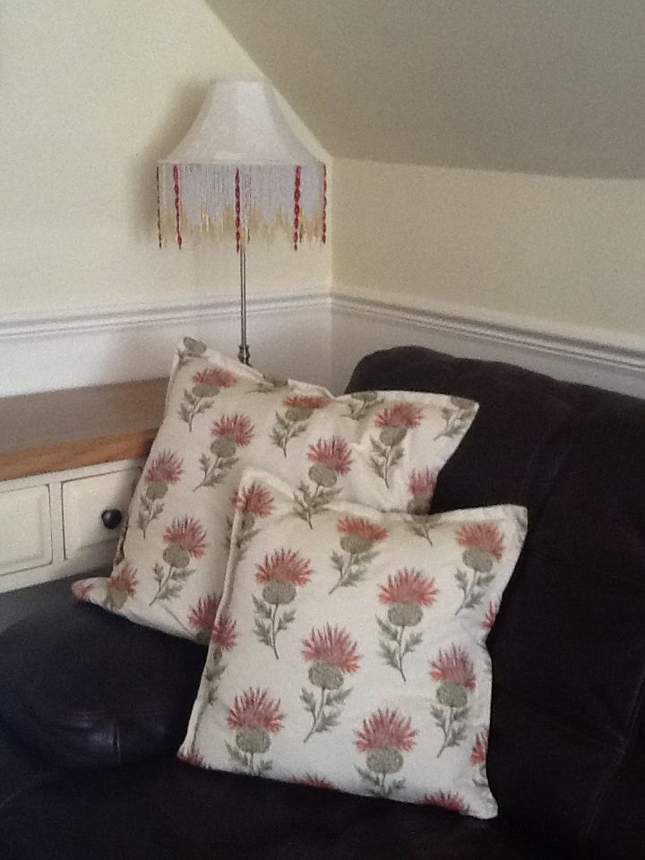 Cushions to coordinate with furnishings