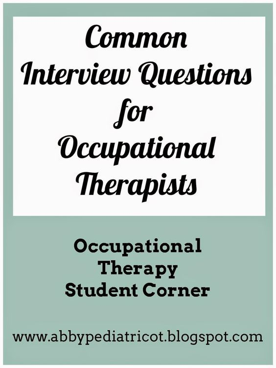 The  Best Occupational Therapy Jobs Ideas On
