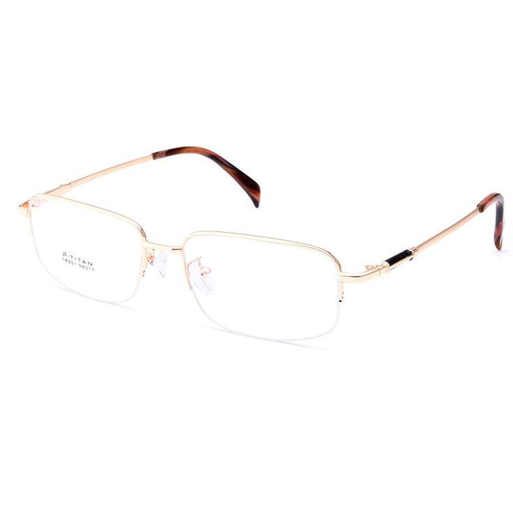 Gmei Optical S8201 Alloy Metal Semi-Rimless Eyeglasses Frame for Men Prescription Optical Eyewear Glasses