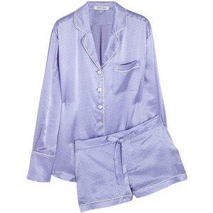 Olivia von Halle Alba Edie printed silk-satin pajama set