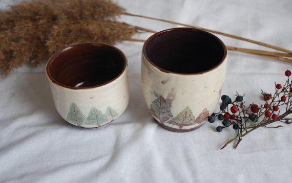 Mount Ida Series: Trees Mug by aliveobjects on Etsy Rustic handmade ceramics cup. #ceramics #mug #cup #handmade #unique #rustic #wintertheme #winemug #wintermug #coffemug #christmas #cup #claymug #clay #porcelain #handmademug