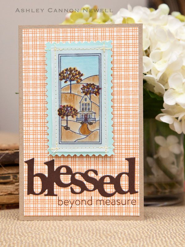 Blessed Beyond Measure Card by Ashley Cannon Newell for Papertrey Ink (August 2012)