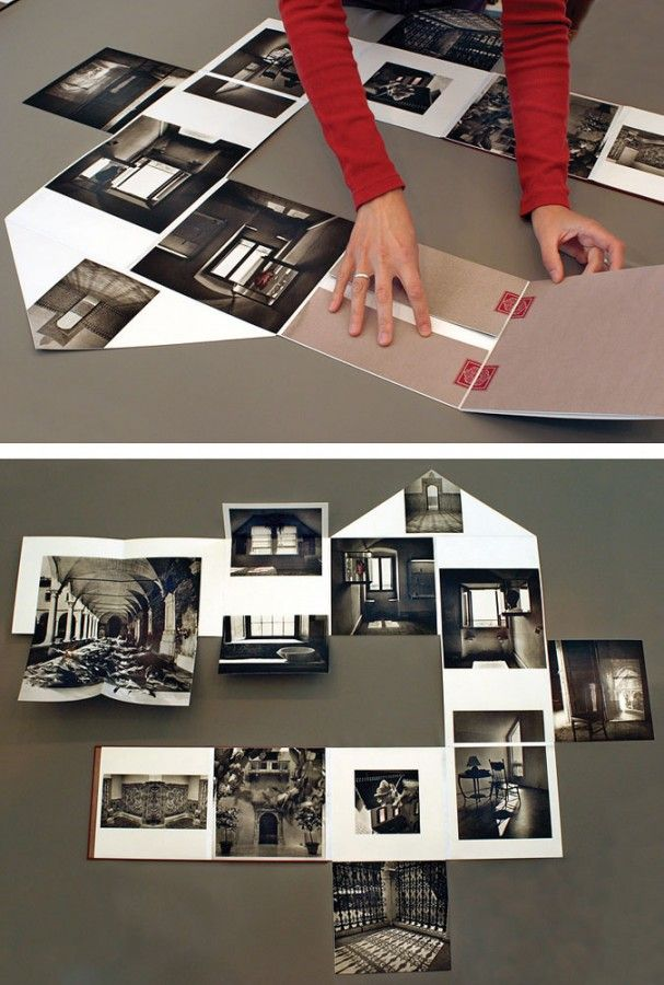 folded / fold-out book #photos #house