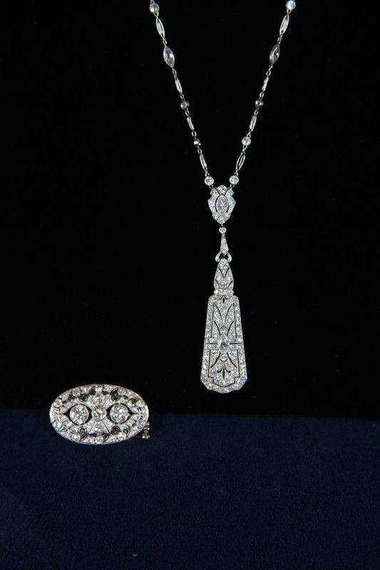 Pendant & Tiffany Diamond Necklace, ca. 1920 $30,…