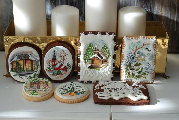 Christmas Hand Painted Cookies by Albena