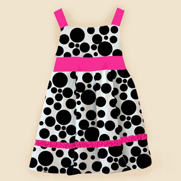 Купить товар2015 NewGirls черные точки платье без рукавов с бантом сарафан цельный пляж платье в категории Платьяна AliExpress.
