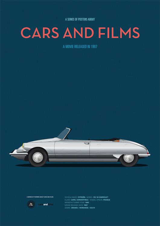 Poster of Gattaca car. Illustration Jesús Prudencio
