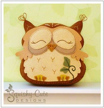 sewing pattern, free pattern, felt owl, owl plushie, owl pattern, free owl pattern, stuffed animal I just finished making this one she is gorgeous well worth signing up to the site