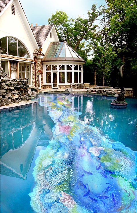 Coral Reef Pool - wouldn't this be amazing to have in the back yard!