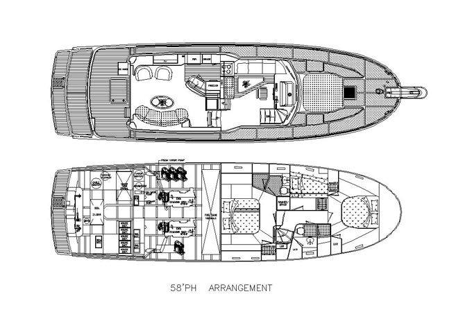 56ft 유리 섬유 요트 디자인