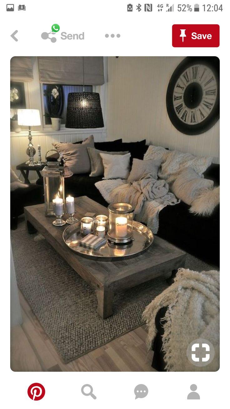 20 Exotic Dark Living Room Design Ideas