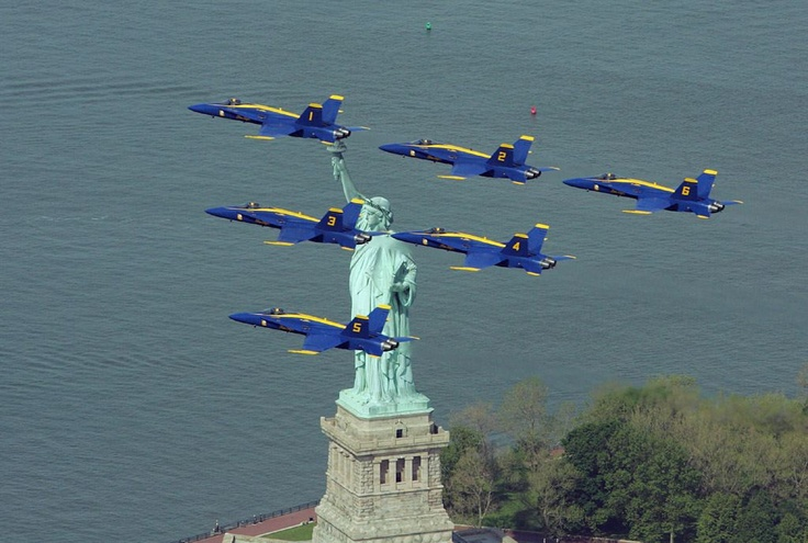 Lady Liberty and the Blue Angels! What more could You add
