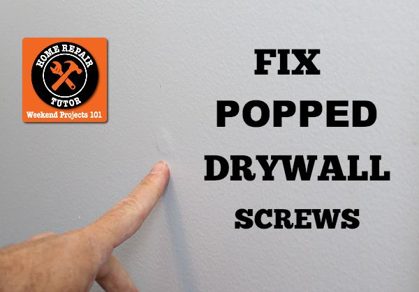 Repair nail pops and holes in sheetrock: fast fixes with 5 minute joint compound – Home Repair Tutor