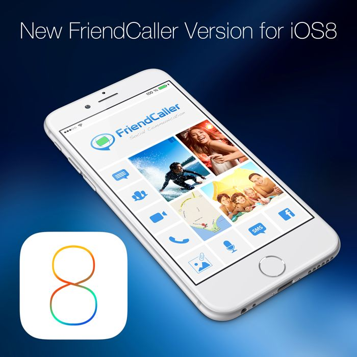 "Say ""Hello"" to the new FriendCaller Version   FriendCaller just released a new version. It's optimized for iOS 8 and the new iPhone 6 series.  Get the upgraded version today and stay in touch with all your friends and family to use the free messaging service, voice or video calls on FriendCaller!   http://fc.vc/friendcaller-video-chat"