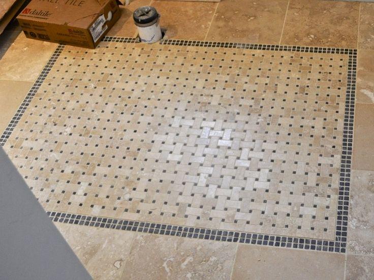 50 best vintage bathroom tile images on pinterest for Best grout color for travertine tile