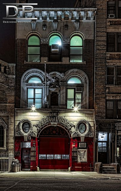 Nice.  Firehouse HDR photo was taken in Little Italy New York. This place is a photographer's dream. Tons of architecture. Shot using a Canon 5D 24-70L
