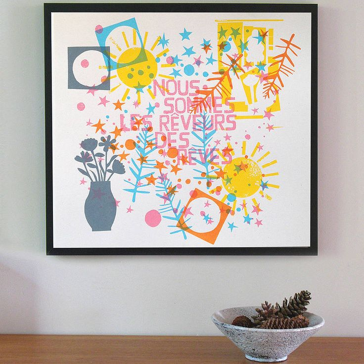 we are the dreamers of dreams screen print by marcus walters | notonthehighstreet.com