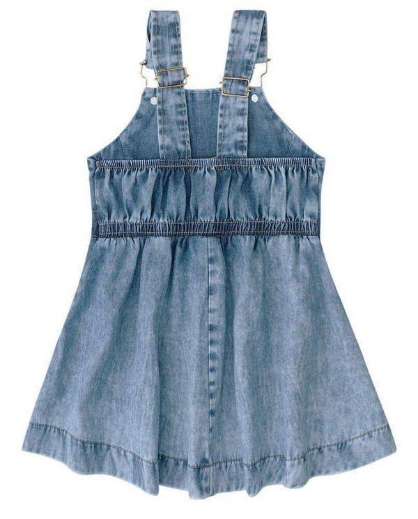 Kid Baby Girl Rabbit Suspender Belt Overalls Skirt Denim Dress Outfits Clothes W