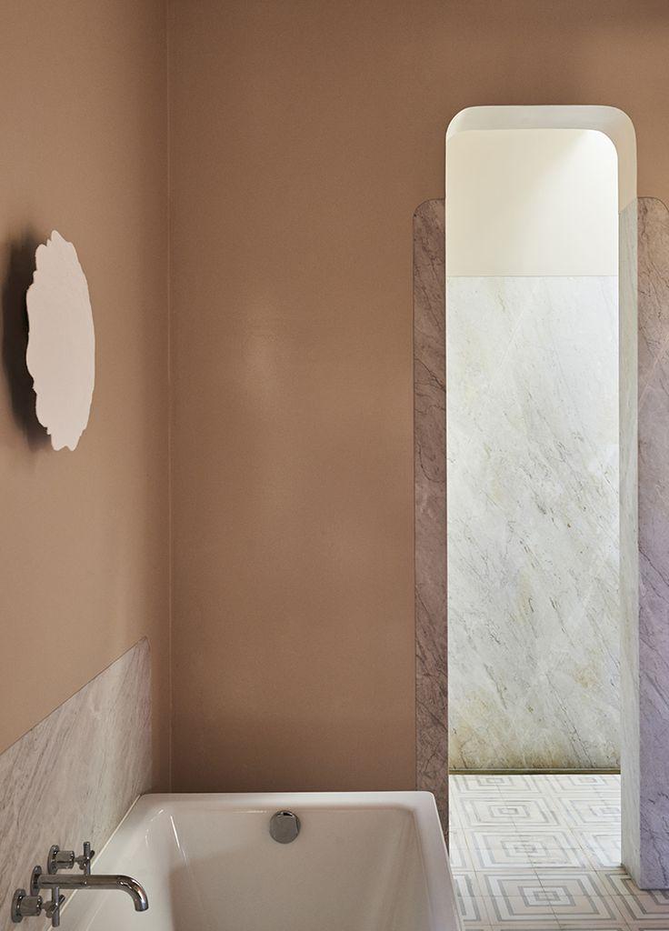 marble details // soft blush // patterned tile // minimal + warm Anna Charlesworth