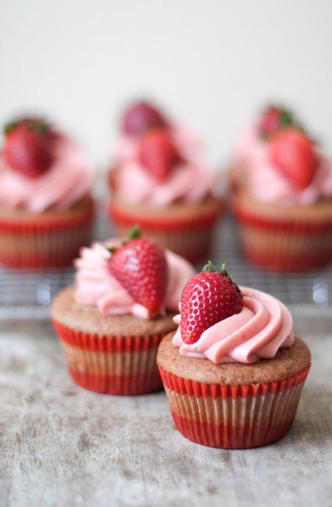 Best-Ever Strawberry Cupcakes