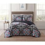 Sheffield Blue Multi Full and Queen XL Quilt Set, Muli Colored