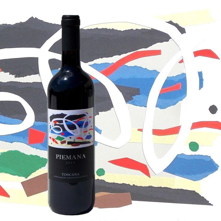 andrea mattiello etichetta bottiglia vino Piemana 2014 #andreamattiello #artista #artistaemergente #vino #wine #bottiglia #bottle #piemana #etichetta #etichettavino