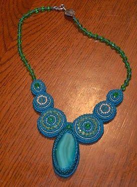 #beadwork, #handmade, #beadednecklace
