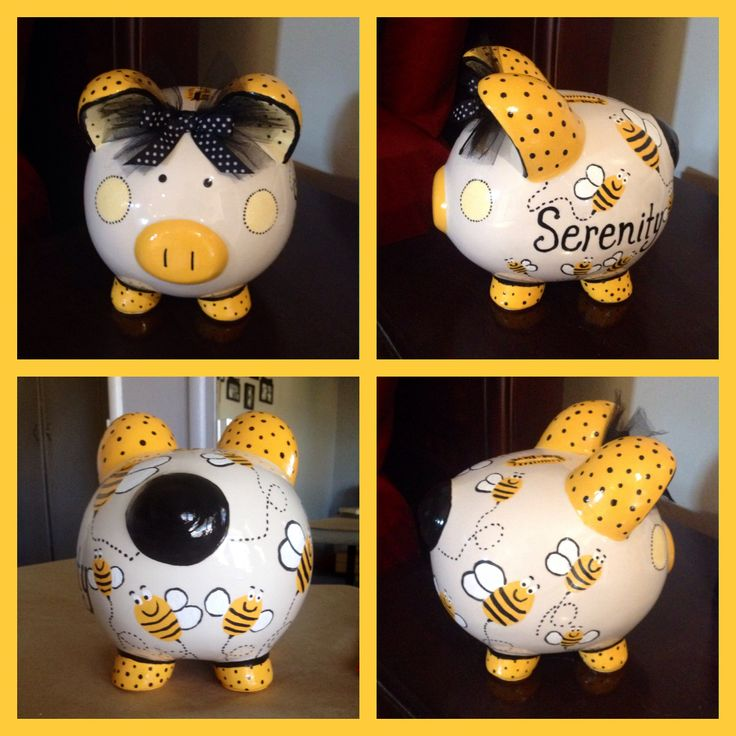 Bee-lieve piggy bank