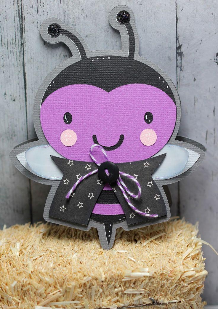 Bat Bee Card - Create A Critter 2 Cricut Cartridge