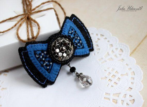 Felt brooch  Butterfly. Felt Bow. Handmade Felt от JuliUdarovaArt