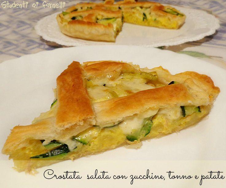crostata con zucchine tonno e patate ricetta torta salata sfoglia