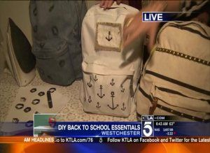DIY Back To School Essentials- Backpacks.  Learn how to decorate backpacks to make them your own.  #backtoschool #DIY #backpack