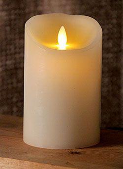 5 Inch Ivory Luminara Flameless Candle - 5 Hour Timer
