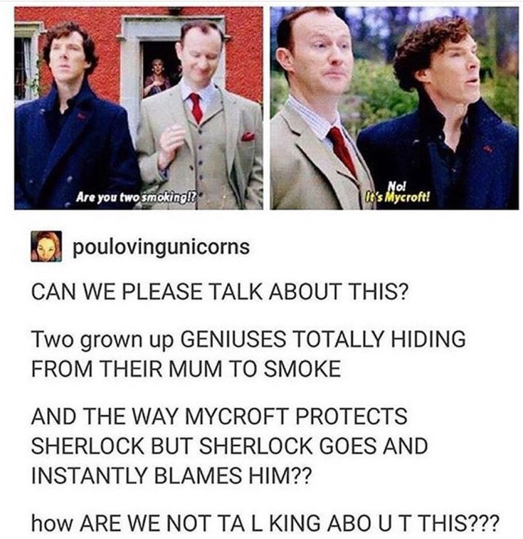omfg I love this scene so much!!! like the fact that the two smartest people in britian, and grown men are hiding their smoking from their mum