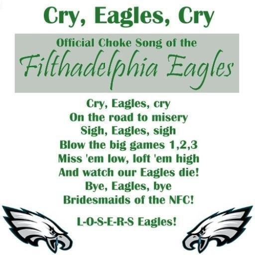 """Bwhahahaha. As my hubby says """"The disappointment of being an Eagles fan."""""""