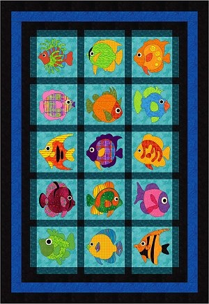 2013 Wonderfully Fishy BOM quilt Free Quilt BOM Pinterest Block of the month, Cat pattern ...
